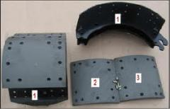 Slips bezasbestovy brake shoes, production and