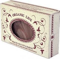 Натуральное мыло   Organic Live   с маслом ши и