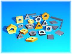 Пластины сменные многогранные твердосплавные.