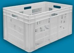Ящик пластмассовый 600х400х420 перфорированный