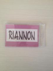 Badge from PVC