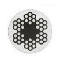 Трос для растяжки в оплетке пвх DIN 3055