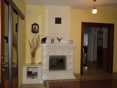 Fireplace from a tile (tiles from the producer),