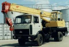 Rent of the Truck crane of 14