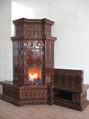 Tiles ceramic (tile) for finishing of fireplaces,