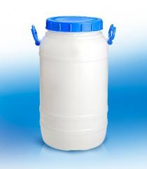 Can flask of 30 l plastic for honey, dairy