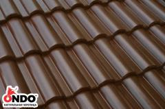 Natural tile of ONDO Marron (brown)