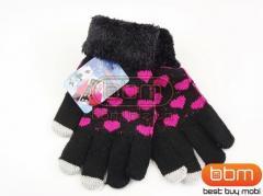 Перчатки для сенсорных экранов (черные) с
