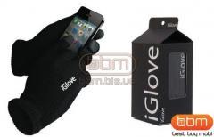 Перчатки для сенсорных экранов (черный) iGlove