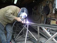 Welding of a stainless steel with departure