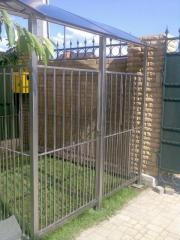 The open-air cage from stainless steel