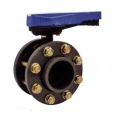 Поворотный дисковый клапан с фланцами,