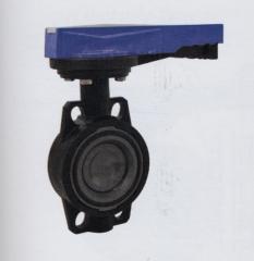 Поворотный дисковый клапан з фланцами,