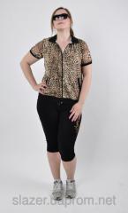 Женский леопардовый костюм