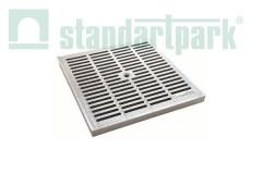 Lattice of water reception plastic gray 53,5x53,5