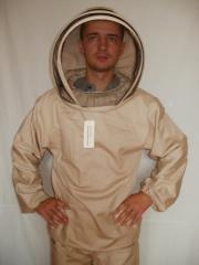 Jacket of the beekeeper of 100% kotton