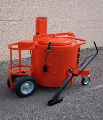 Manual road oiler for filling of cracks and seams