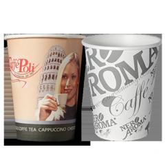 Стаканы бумажные Caffe Poli, Nero Aroma плотность 210