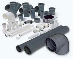 Shaped parts of pipes PVH