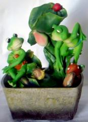 Figurines from porcelain, fountains, pr-in Italy