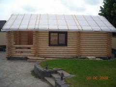 Saunas, baths wooden from the builder