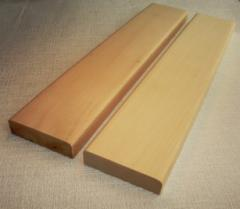 Plank beds regiments for a sauna, country houses