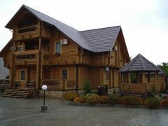 Wooden housing construction in Ukraine