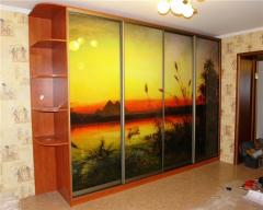 Sliding wardrobe with a photo printing