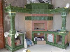 Brazier (facing - tiles and a brick)