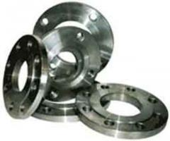 Flanges are steel welded