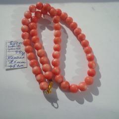 Коралл розовый . Бусы 44 грамма 45 см