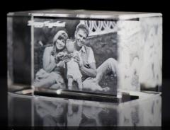 Photo in a crystal, the Cube with a 2D ph