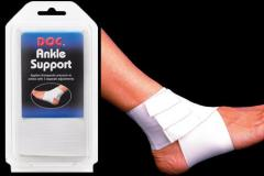 Bandage on an ankle of Tourna DOC® Ankle Suppor