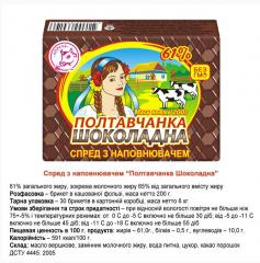 Chocolate butter. Spread with Poltovchank