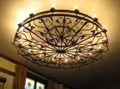 Кованые люстры подвесные от производителя Херсон