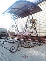 Качеля садовая кованная