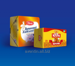Packaging for fat-and-oil products: butter,