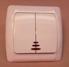 Выключатель с подсветкой двухклавишный