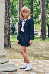 Jacket dark blue, school for the girl