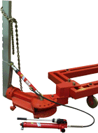 Tyanyshchy hydraulic strut to stands of frame type