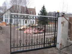 Ворота откатные  раздвижные кованые автоматические