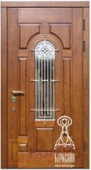 Двери входные, модель Русь со стеклопакетом и