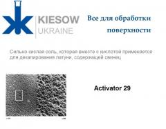 Activator 29 means for etching