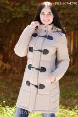 Зимнее пальто из плащевки PK1-267