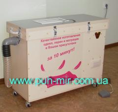 The equipment for production of blankets,