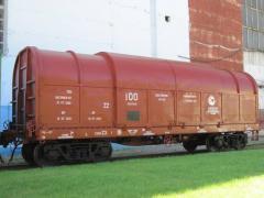 Вагон-платформа для перевозки стали в рулонах