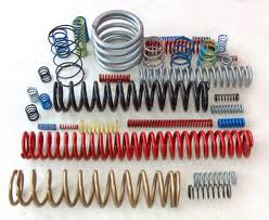 Compression springs, production of springs of