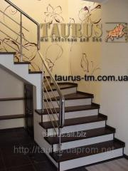 Handrail from stainless steel to the house, a
