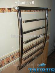 The Atlantica heated towel rail 5/400 of stainless