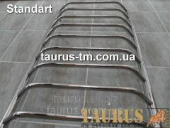 The heated towel rail from a stainless steel of